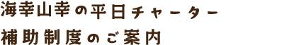 海幸山幸・はやとの風 (都線)の平日チャーター補助制度のご案内